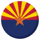 Arizona State Flag 25mm Pin Button Badge